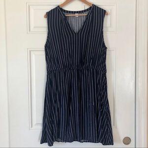 Sleeveless Waist-Defined V-Neck Dress